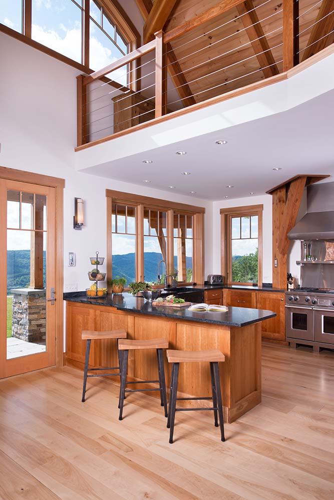 Vermont Timber Frame Kitchen