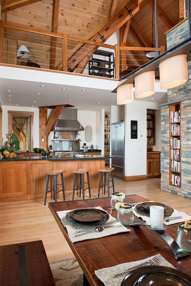 Vermont Timber Home Kitchen