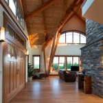 Vermont Timber Home Hallway