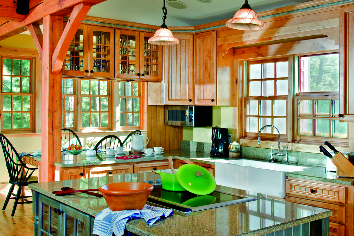 Maximizing Small Timber Home Kitchens