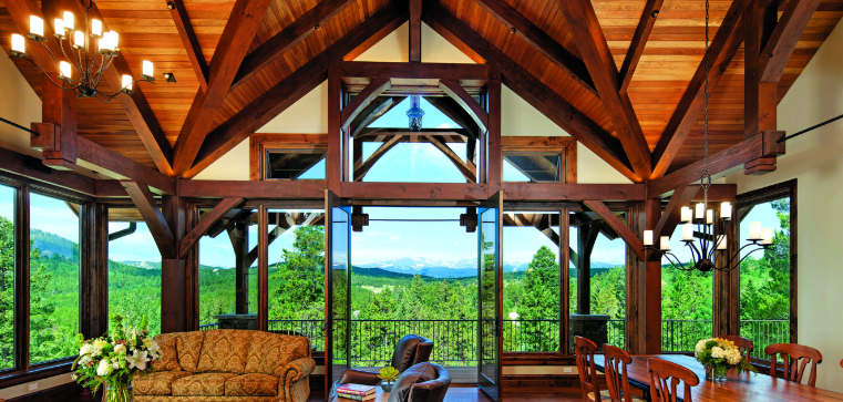 A Timber Home in the Colorado Mountains