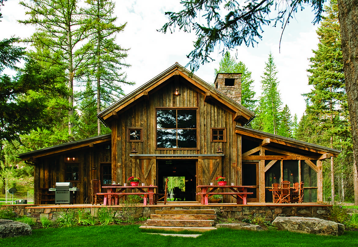 Fabled country timber frame barn home for Wood barn homes