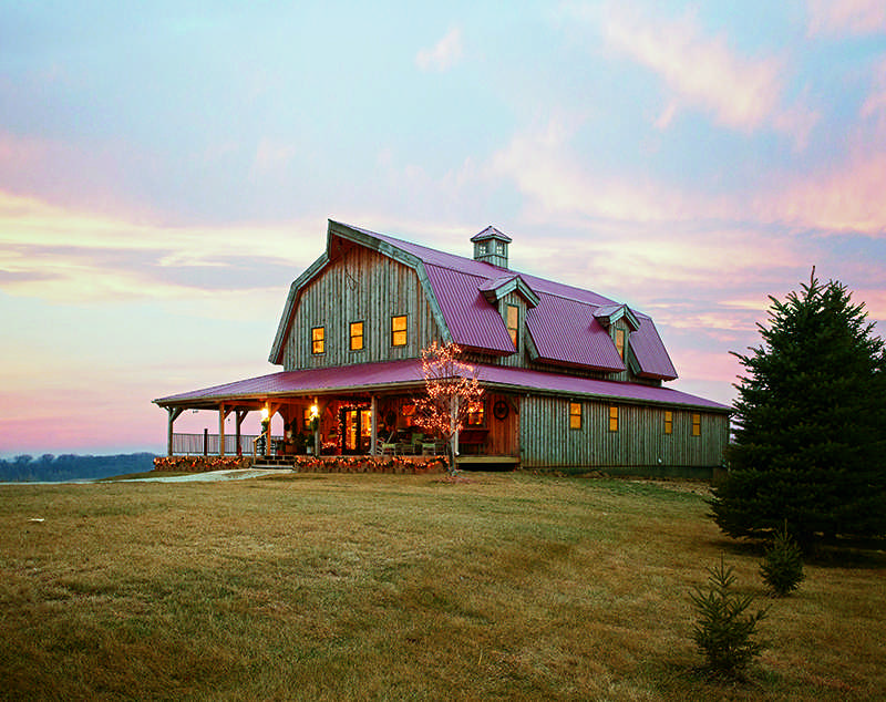 Timber home living readers 39 choice awards 2015 for Gambrel barn homes kits
