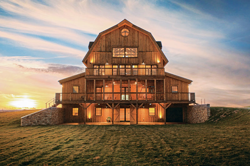 Midwest Timber Home on the Plains