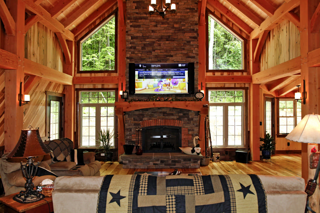 A classic timber frame home in pennsylvania for A frame house characteristics