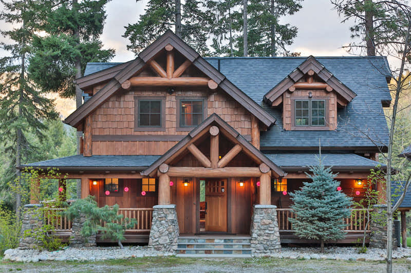 Big Plans Little Budget Soffit B Gone: Natural Beauty In A Washington Timber Home