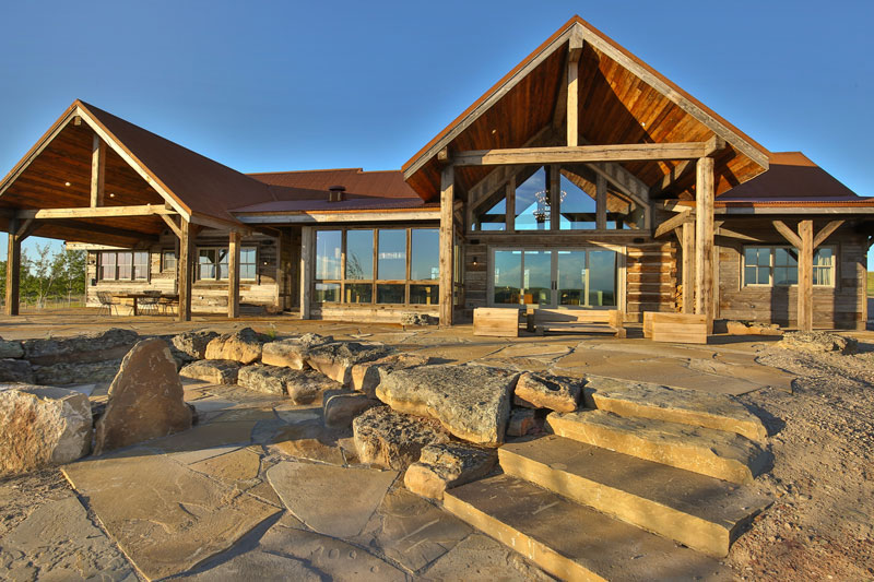 A ranch style timber home is a big sky beauty for Ranch style timber frame homes