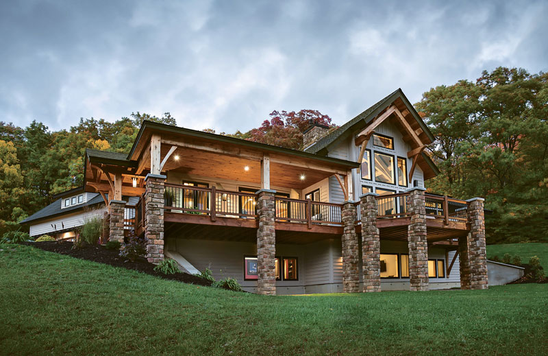 A New York Timber Home Built For Family