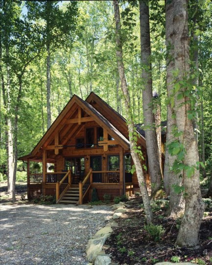 On Happy Trails A Hybrid Vacation Cabin In North Carolina