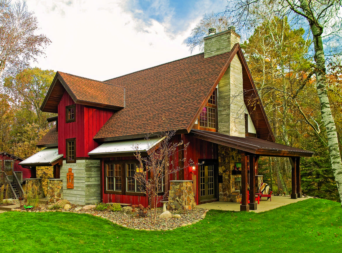 Polishing a minnesota gem for Log cabin style house