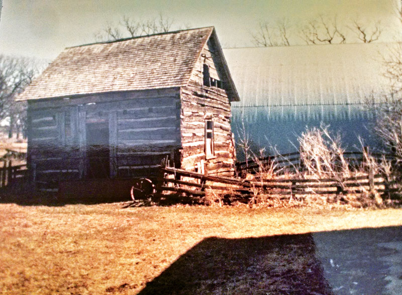 old log cabin exterior