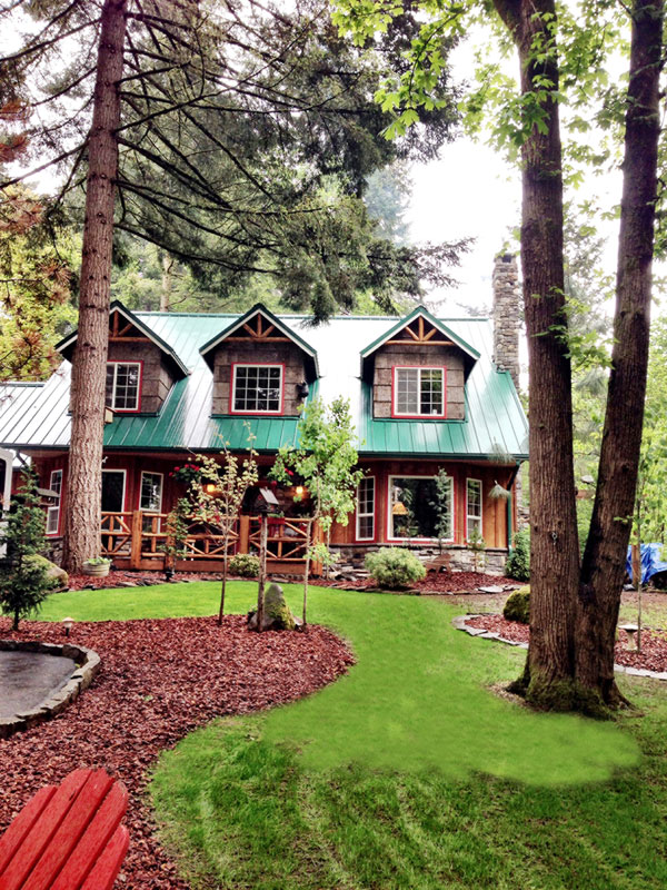 A rustic style cabin in oregon for Cabin in the woods oregon