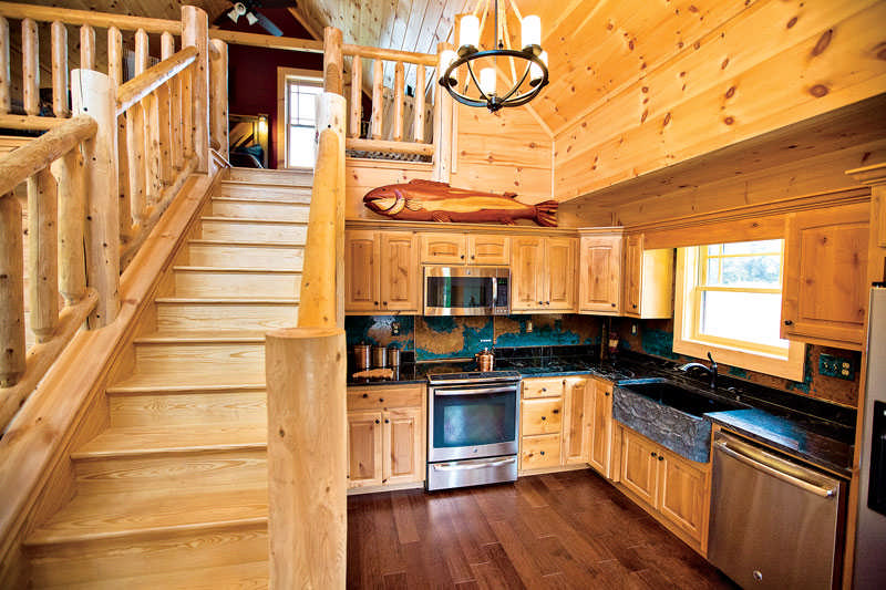 Staining your log cabin Small house heating systems