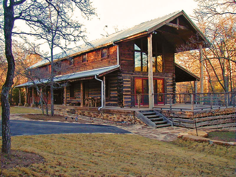 A texas log cabin with history for Log cabin plans texas