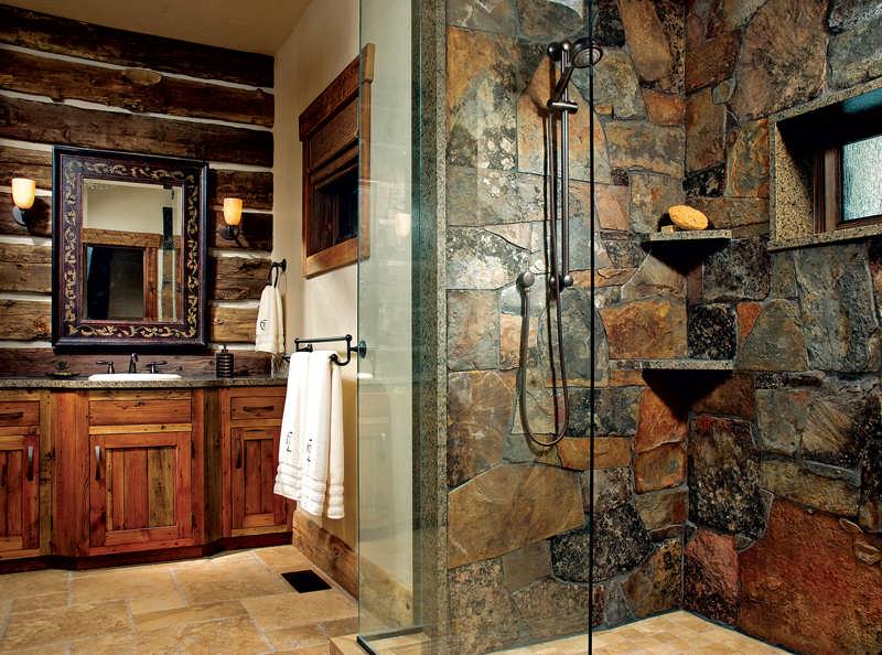 in the bath - Bathroom Ideas Log Homes