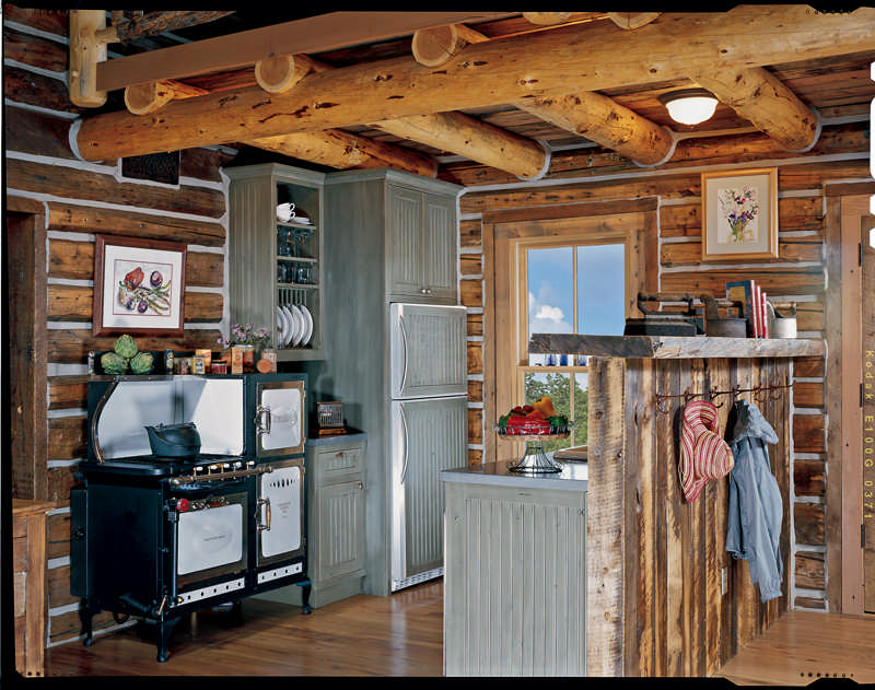 The perfect cabin kitchen or bath for Cabin kitchen cabinets