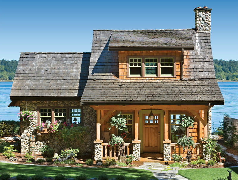 A pacific coast cottage smart cabin design for 5 structural types of log homes