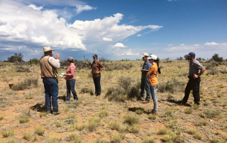 Representatives from the Natural Resources Conservation Service, ranches and Game and Fish Department discuss impacts of wildlife and cattle on grasslands alongside fire and other natural disturbances.
