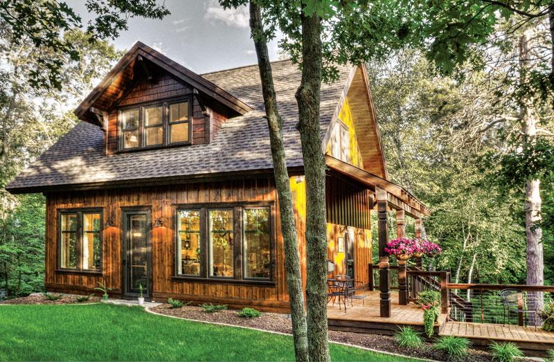 A Rustic Creekside Cabin Gets A Dramatic Update