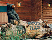 Wood carving for cabin