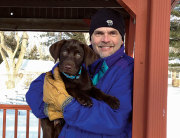 Mark Johnson with Dog