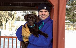 Mark Johnson with Dog