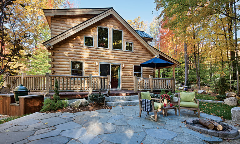 Tour this new hampshire log cabin getaway cabin living for New hampshire log cabins