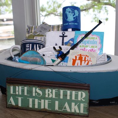 Lake House Gift Boat