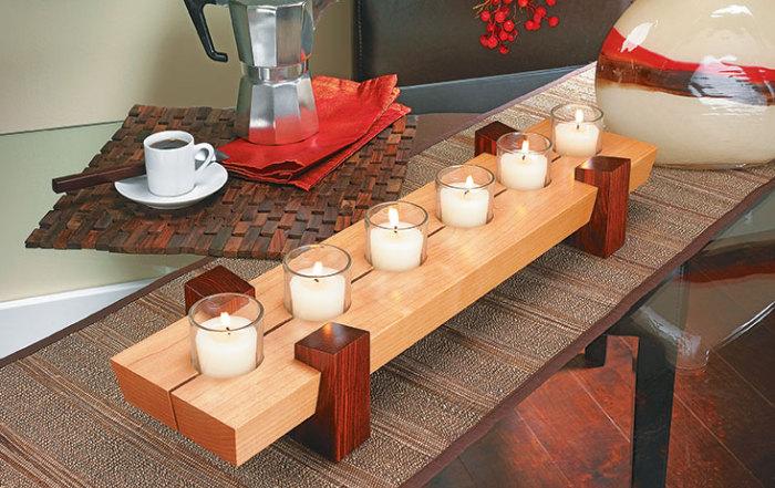DIY: Six-Candle Centerpiece